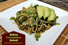 Asian Cucumber Salad with Sesame Ginger Dressing | Primally Inspired