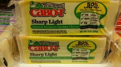 Cabot sharp light cheddar cheese vegetarian and halal verified 02/15/2016