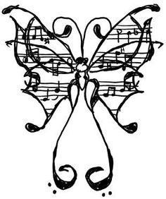 Butterfly notes music music tattoos, chrysanthemum tattoo и Music Tattoos, Love Tattoos, Tatoos, Sweet Tattoos, Piercing Tattoo, I Tattoo, Tattoo Pics, Calf Tattoo, Butterfly Music