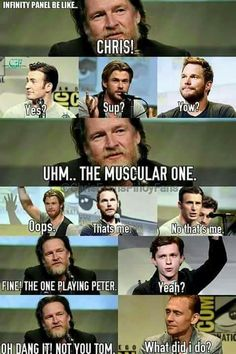 HAHAHAH this is amazingly accurate to how fans think of the marvel universe and it's actors.