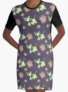 Spring Primroses Graphic T-Shirt Dress 20% off today use code CARPE20 #redbubble #newfromredbubble #redbubbledress #digiprint #printeddress #print #pattern #patterneddress #graphicdress #graphic #sublimation #dyesublimation #alternative #fashion #ss16 #indie #indiedesign #design #tshirtdress #minidress #women #fashion #newdress #newclothes #flowers #floralprint #floraldress