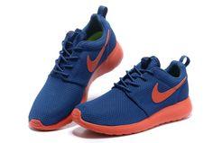 Dark Royal Blue Team Orange Volt Nike Roshe Run Men's Shoes #sneaker