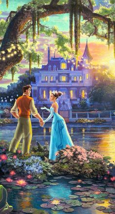 """Tiana and Naveen"" Film Disney, Disney Couples, Disney Art, Disney Movies, Tiana And Naveen, Disney Princess Tiana, Prince Naveen, Tangled Princess, Frog Princess"