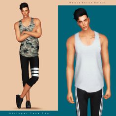 Stringer Tank Top for The Sims 4