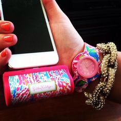 Lilly Pulitzer Mobile Battery Charger for iPhone 5 (iPhone 4 Available also) via @Brooke Baird carrico on Twitter