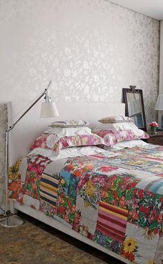 No hace falta que elijas un #estampado para la #colcha de tu #cama. #ropadecasa