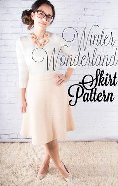 Floral Flurries: Winter Wonderland Free Skirt Pattern #sewing #freepattern #skirt