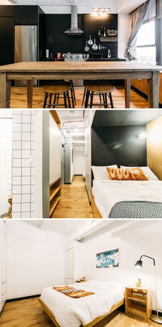 A shared apartment in WeWork's new communal living space, WeLive