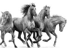 Dibujo de caballos.