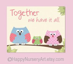 nursery decor owls by HappyNurseryArt, $15.00 #etsy