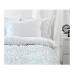 OFELIA VASS Quilt cover and 4 pillowcases, white £35.99