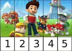 Puzzles de números de la Patrulla canina