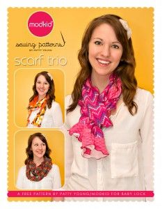 Serger Scarf Trio Project by Patty Young » National Serger Month