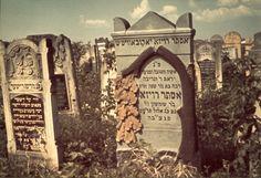 Lodz, Poland, Gravestones in the Jewish cemetery in the ghetto.