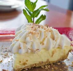 Vegan classic coconut cream pie. Used some coconut sugar in substitution for cane sugar. I highly recommend blending the pie filling ingredients together in a blender before heating in sauce pan.