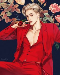 Kai_exo shared by shinn on We Heart It Handsome Anime Guys, Hot Anime Guys, Exo Anime, Anime Art, Kpop Drawings, Art Drawings, Manga K, Exo Fanart, Kim Jong In
