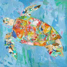 Sea Turtle Swim Wall Art from @PoshTots