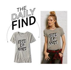"""""""The Daily Find: American Eagle Outfitters T-Shirt"""" by polyvore-editorial ❤ liked on Polyvore featuring American Eagle Outfitters, women's clothing, women's fashion, women, female, woman, misses, juniors and DailyFind"""