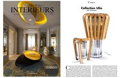 Les Plus Beaux Interieurs September 2013 issue features the Veronese Ulio collection.  This recent collection marks the first time Veronese combined Murano glass and wood artistry to create contemporary designs.