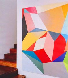 Gemma Smith painting - Louise Olsen - Stephen Ormandy home