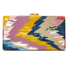 Edie Parker Jean Ripple Clutch (8.675 DKK) ❤ liked on Polyvore featuring bags, handbags, clutches, pink tie dye, pink clutches, lucite purse, edie parker, kiss lock purse and lucite handbags