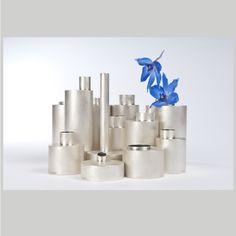 blue flowers silver vase - Google Search Blue And Silver, Blue Flowers, Google Search