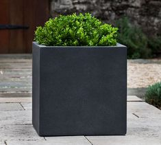 Rilynn Square Outdoor Planters | Pottery Barn Outdoor Areas, Outdoor Dining, Backyard Planters, Patio, Restoration Hardware Outdoor, Commercial Planters, Office Storage Furniture, Square Planters, House Front Door