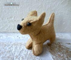 SOLD. Felt puppy dog by WoolStreetStitchery on Etsy