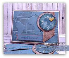 Word Traveler Best Dad ... great male card for your favourite male traveller!  Super easy with the Going Places Suite #stampinup #stampalatte #goingglobal #worldtraveller #goingplaces #male #masculine