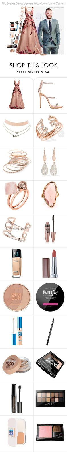 """""""fiftyshadesdarker.set"""" by hsmklau ❤ liked on Polyvore featuring Lela Rose, Giuseppe Zanotti, Charlotte Russe, Kendra Scott, Red Camel, Monica Vinader, Michael Kors, Mark Broumand, Dorothy Perkins and Maybelline"""