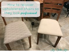tutorial for how to re-upholster chairs.. including details!