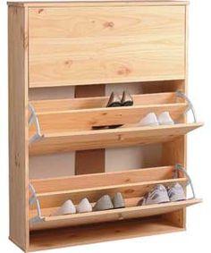 Shoe Storage Cabinet - Solid Pine