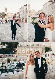 Gorgeous wedding on the island of Hvar, Croatia.