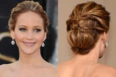 Learn How To Recreate Jennifer Lawrence's Twisted Updo