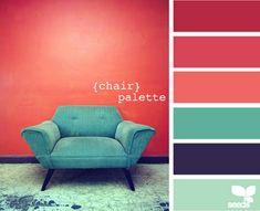 Bleu et rouge vintage Association palette de couleurs
