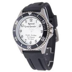 Retired Land Developer Wrist Watch