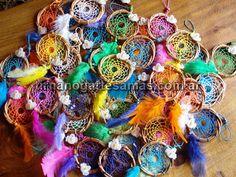 Souvenirs de atrapasueños con pajaritos. Detalle original para primer añito!