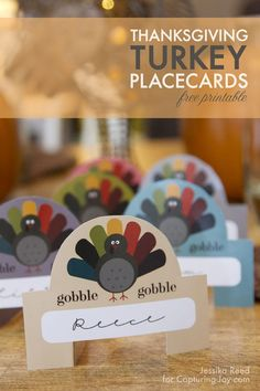 Thanksgiving Turkey Place Card Free Printable
