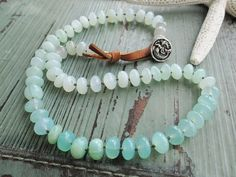 Peruvian opal ombre knotted necklace Sirena by slashKnots