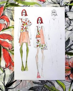 Onibon (@onibon_fashion) • Instagram photos and videos Fashion Project, Fashion Illustrations, Instagram Fashion, Floral Prints, Spring Summer, Photo And Video, Videos, Fabric, Flowers