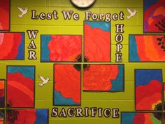 """Grade 6 students worked collaboratively on a special Remembrance Day art instalment. Collaborative Art Projects For Kids, Group Art Projects, Fall Art Projects, Remembrance Day Activities, Remembrance Day Poppy, 3rd Grade Art, Grade 2, Armistice Day, Art Assignments"