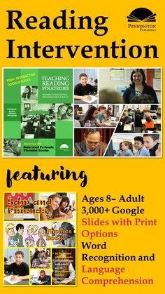 Check our the all-new Teaching Reading Strategies (Intervention Program) and download 2 free sample lessons of 178 Google Slides. Response To Intervention, Reading Assessment, Reading Intervention, Common Core Vocabulary, Academic Vocabulary, Teaching Vocabulary, Teaching Reading Strategies, Reading Resources, Reading Comprehension
