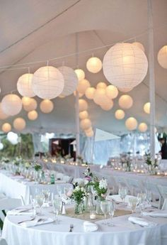Décoration de mariage avec lampions