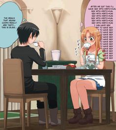 comics,funny comics & strips, cartoons,anime,girls vs boys,thoughts,nsfw,sex related or lewd, adult content, dirty and nasty jokes,Sword Art Online