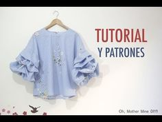 DIY Costura de blusa con mangas abullonadas (Patrones gratis) | Oh, Mother Mine DIY!! - YouTube | Bloglovin'