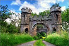 Castle Monzie Gatehouse in Scotland. Castle ruins are fascinating to me...a glimpse into another time.