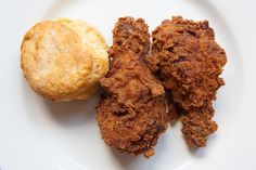 fried chicken and a biscuit (photo by gsz)