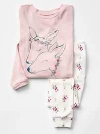 Deer and floral sleep set