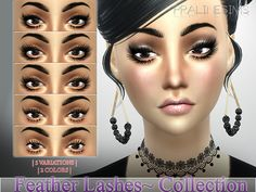 Feather Lashes Collection N17 by Pralinesims at TSR via Sims 4 Updates