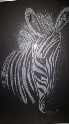 Black paper drawing